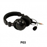 P03 package of 2 41390 Stereo Headset with Boom Mic, Dual 3.5mm Plugs