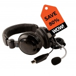 41320 USB Stereo Headset with Boom Mic Pack of 10