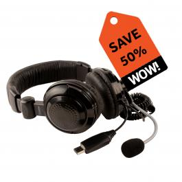 41320 USB Stereo Headset with Boom Mic